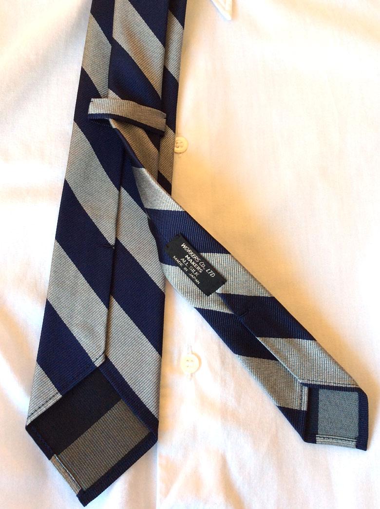 Silk Repp Tie WORKERS
