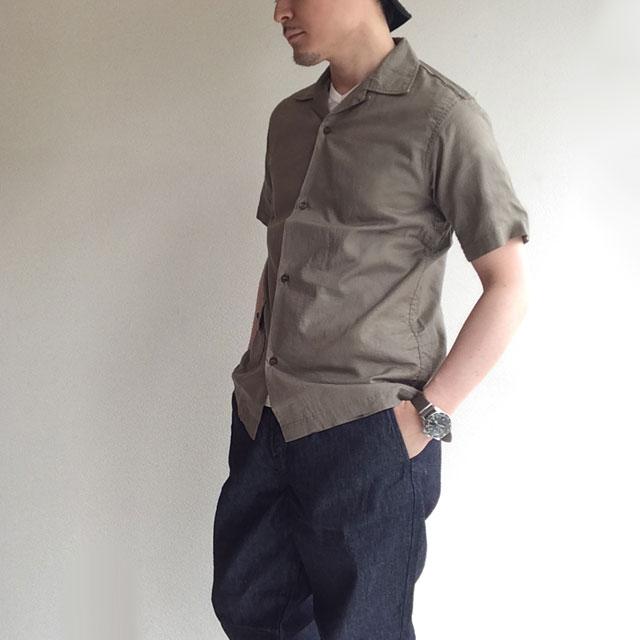 WORKERSのOpen Collar Shirt