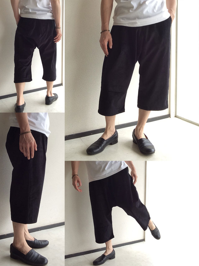 Easy Quarter Pants Black Yarmo