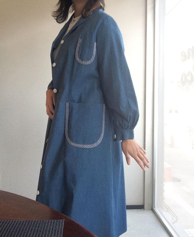 フランス古着のシャツコート