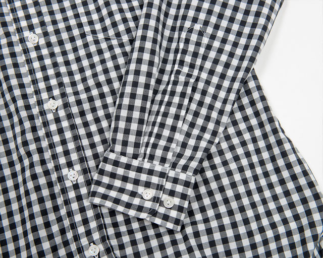 Widespread Shirt, Black Gingham Workers