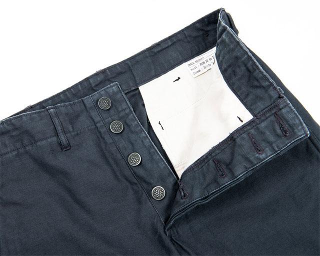 Reversed Sateen Trousers Black Workers