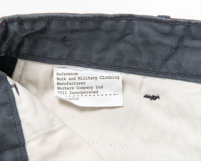 Reversed Sateen Trousers Grey Workers