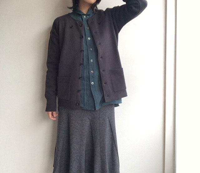フレンチワークニットカーディガン frenchworkers knit cardigan DjangoAtour ANOTHERLINE