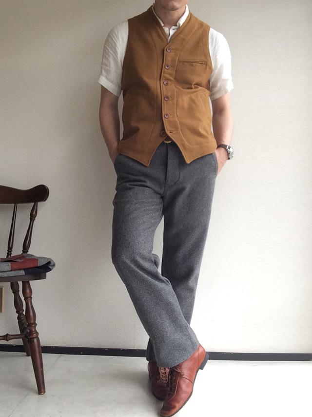 DAファクトリーウールパンツ da factory wool pants grey DjangoAtour