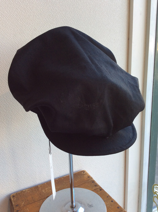 worques cap heavylinen black