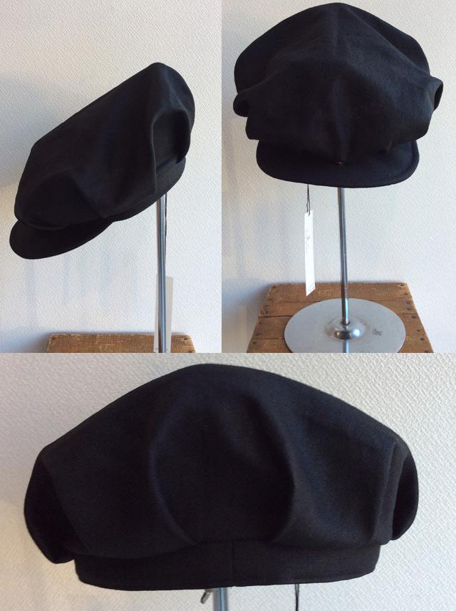worques cap heavylinen black