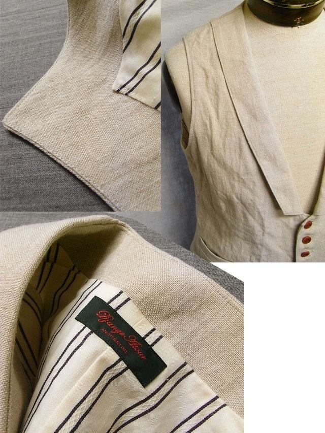 victorians linen waistcoat ecru
