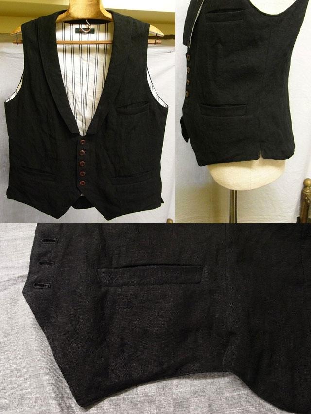 victorians linen waistcoat