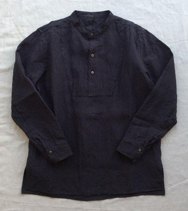 antiqued linen work shirt DjangoAtour