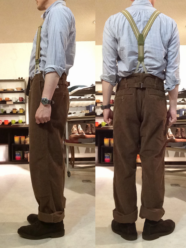 french farmers pants 硫化brown