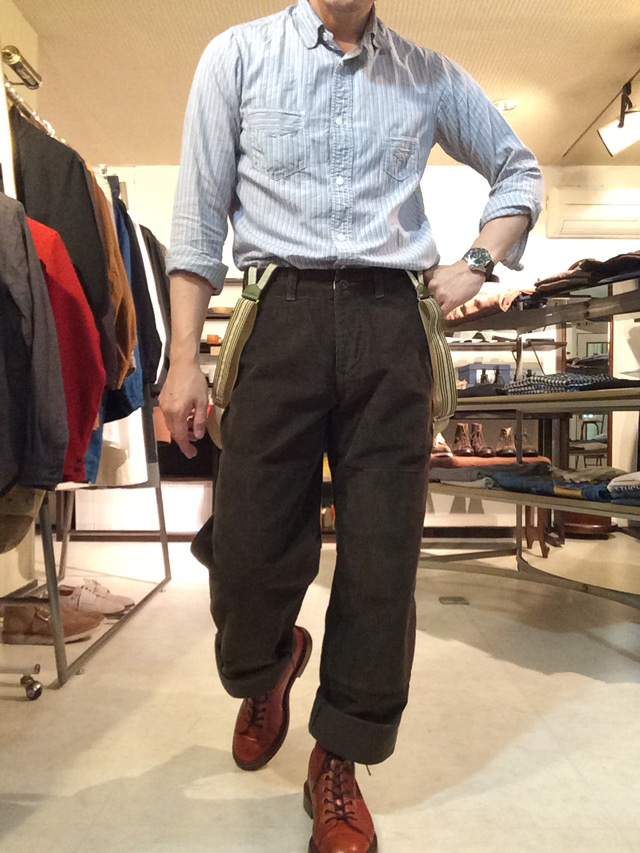 french farmers pants 硫化olive