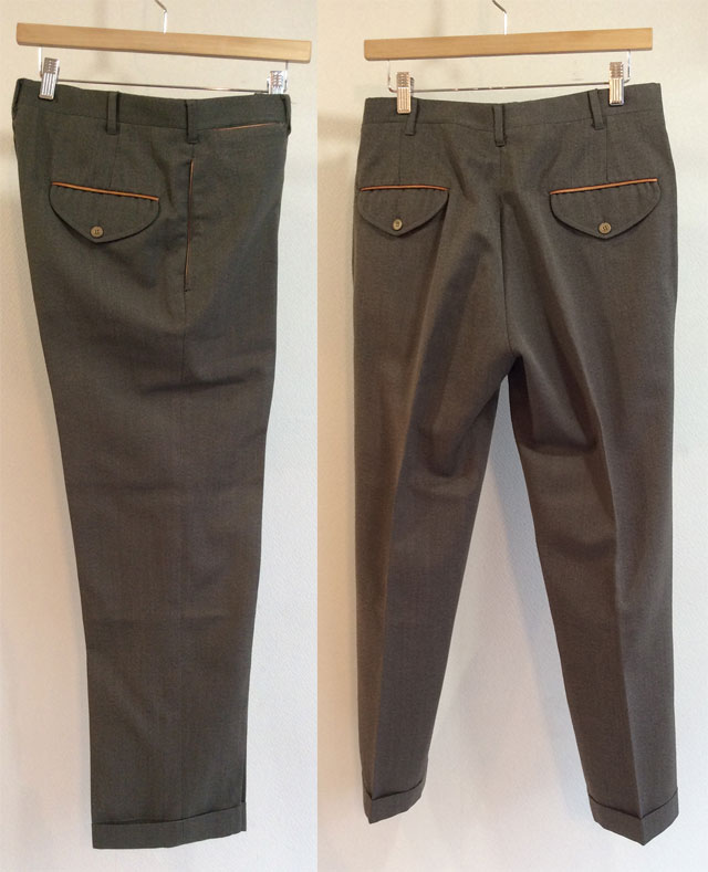 U.S Wool Leather Trimming Trousers by L.L.Bean Grey