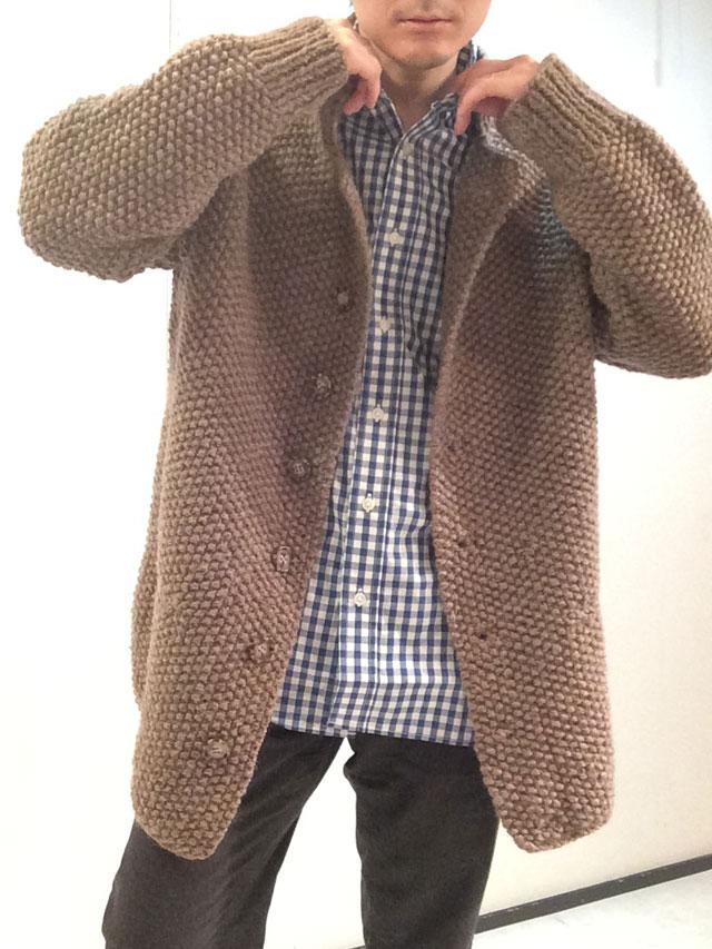フランスのオールハンドニットジャケット