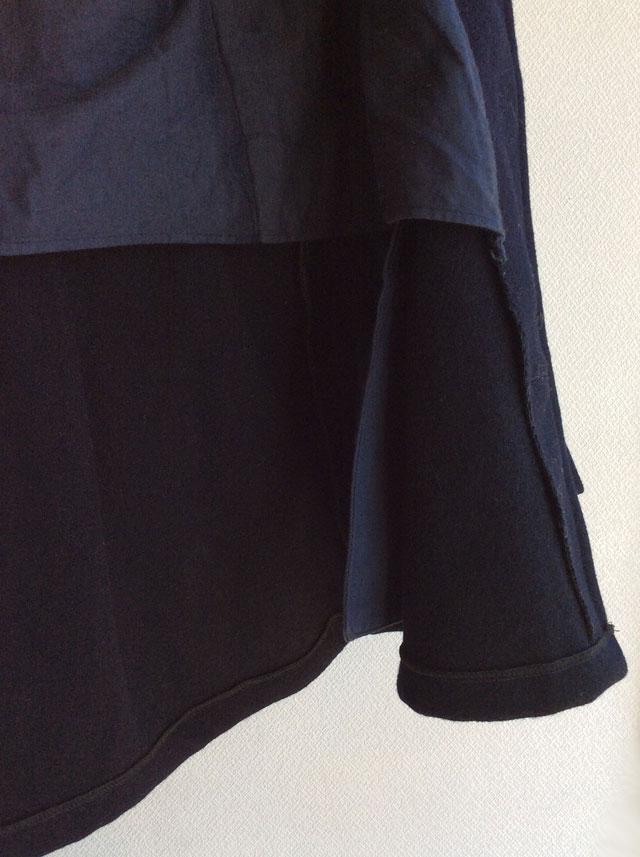 1960's British Wool Melton Coat Dark Navy