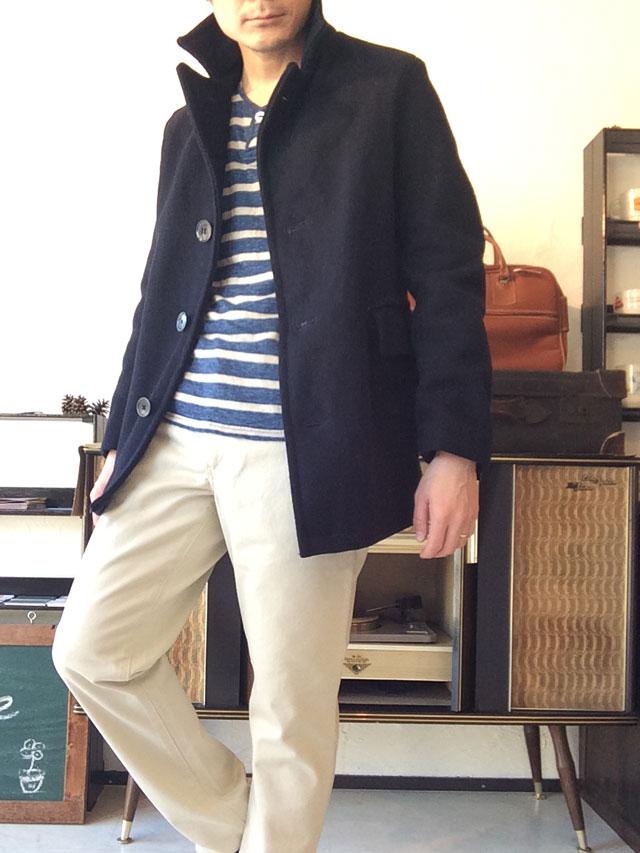 60年代イギリスのウールコート着用例