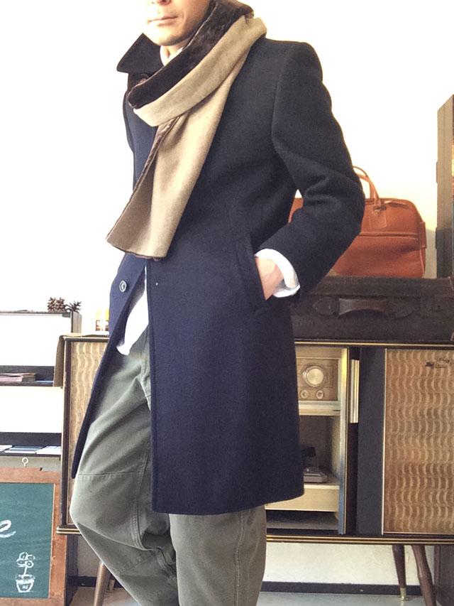 60年代フランスのウールコート着用例