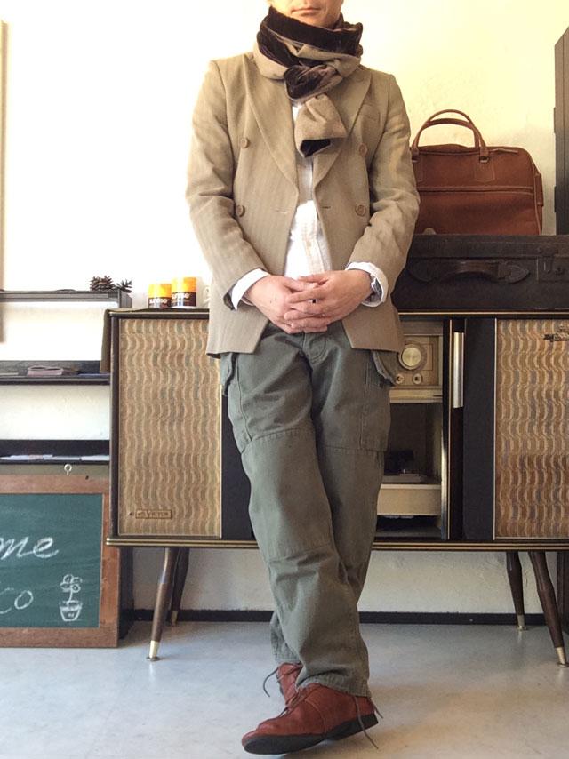 70年代イタリアテーラードジャケット着用画像
