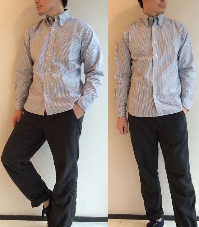 Mofidied BD, Supima Heavy OX, Navy Stripe Workers