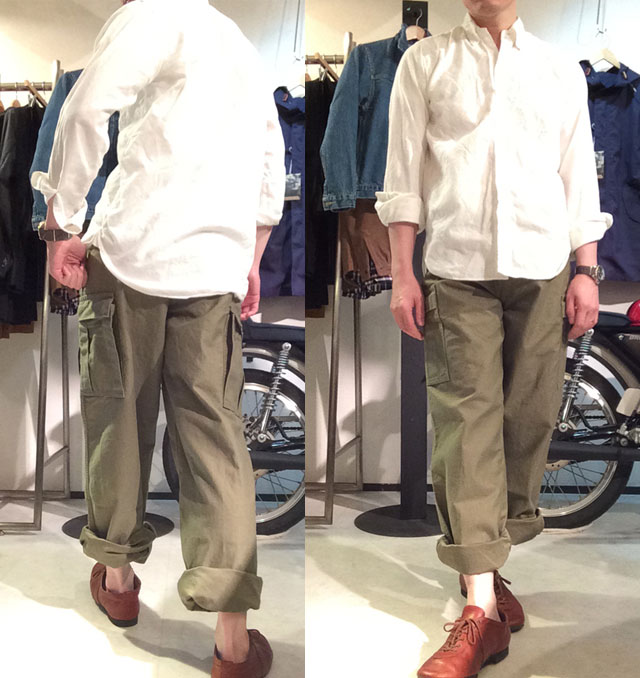 Workers M65 Trousers Mod, Reversed Sateen OD