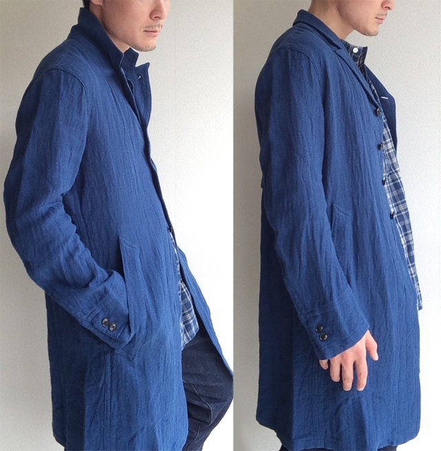 anotherline linen coat frenchblue