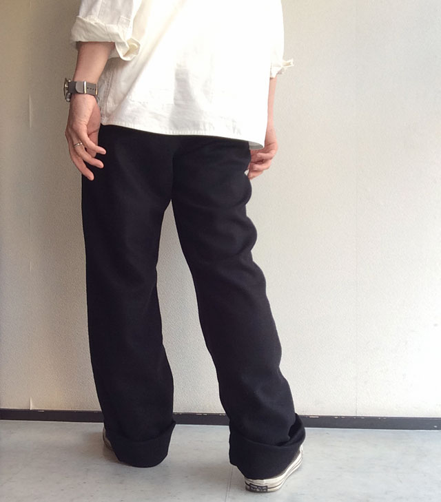 wool easy pants  black DjangoAtour