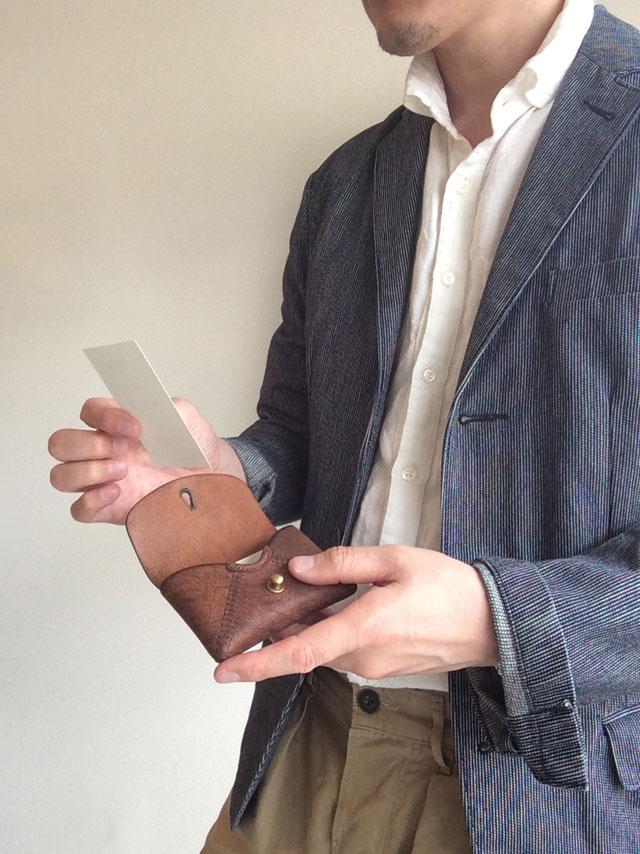 革製名刺入れカードケース