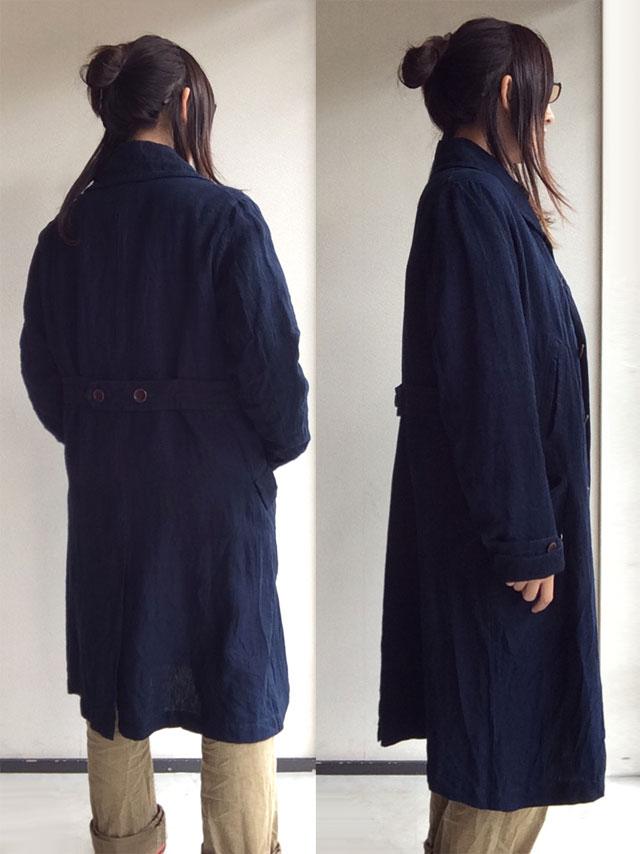 shawlcollar heavylinen coat djangoatour