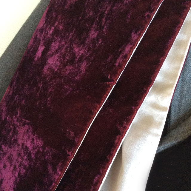 silk and velvet stole DjangoAtour