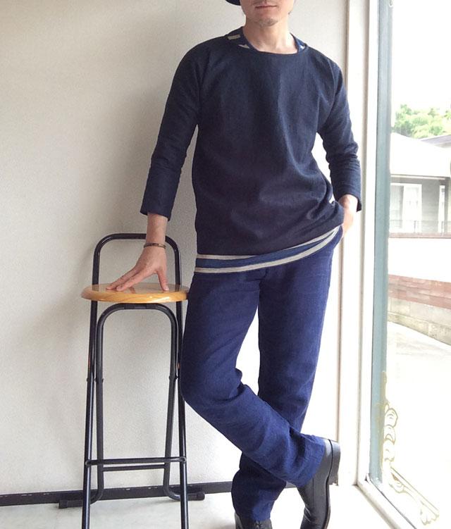 スカンクとアルマジロ リネンのオーバーシャツ