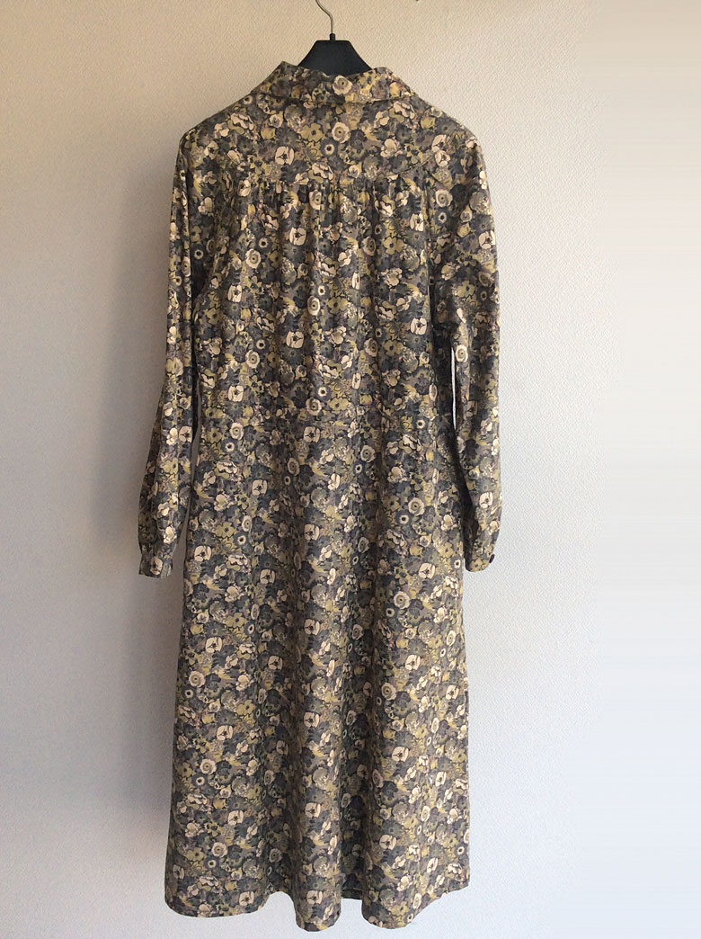 German Flower Print Dress