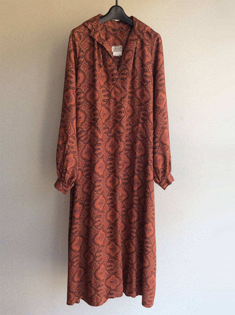 British Paisley Print Dress