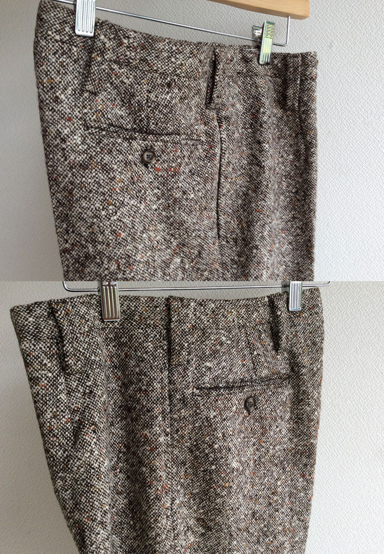 wool Tweed Pants