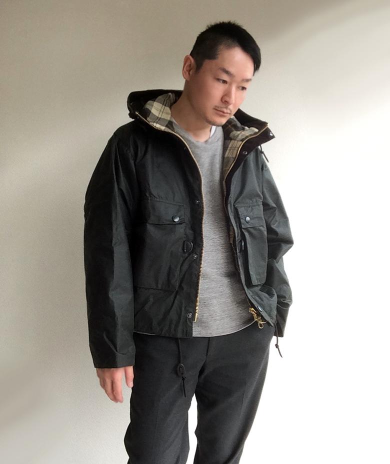 KAPTAIN SUNSHINE Barbour別注Field Short Hoody Jacket