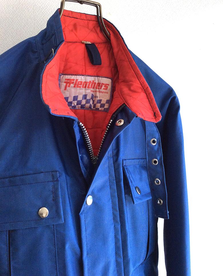 ナイロン製ライダースジャケット