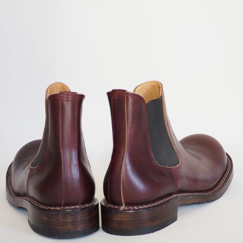 ヒラキヒミおでこ靴サイドゴアブーツ