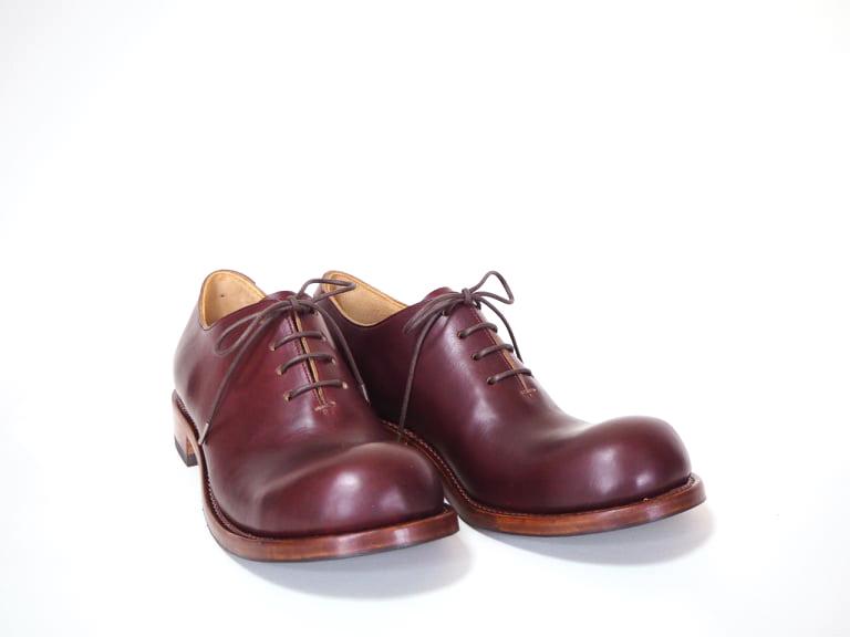 ヒラキヒミおでこ靴東雲一枚革