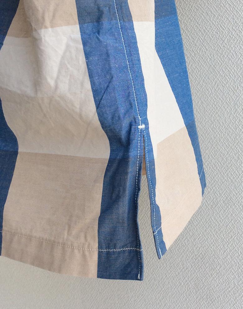KAPTAIN SUNSHINE チェック半袖シャツ