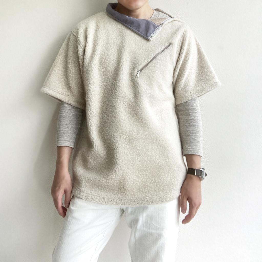 KAPTAIN SUNSHINEカフリースTシャツ