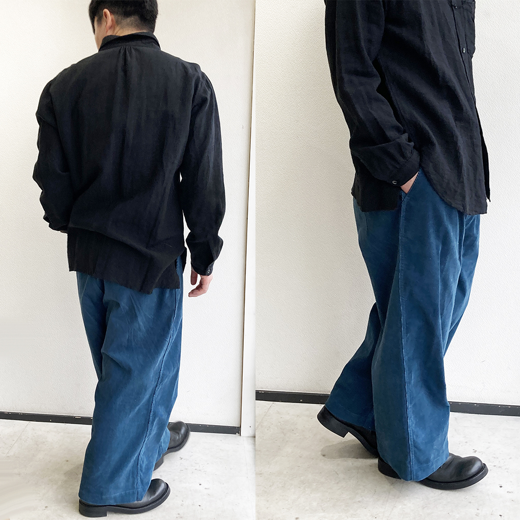 WIDE ROCKER PANTS BLUE STRANGETRIP