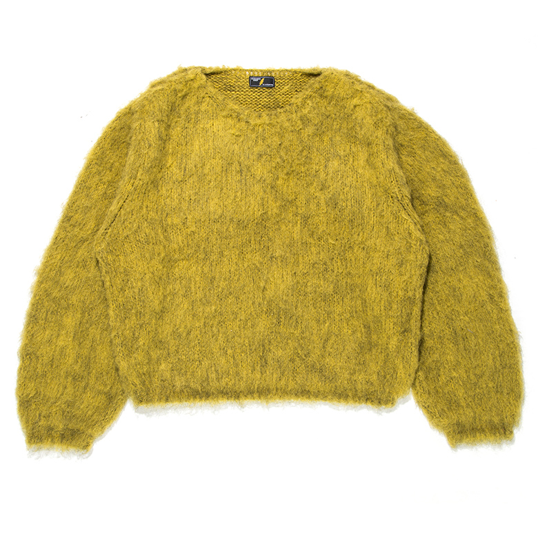 MIX MOHAIR BIG KNIT GRAY×BLUE STRANGETRIP