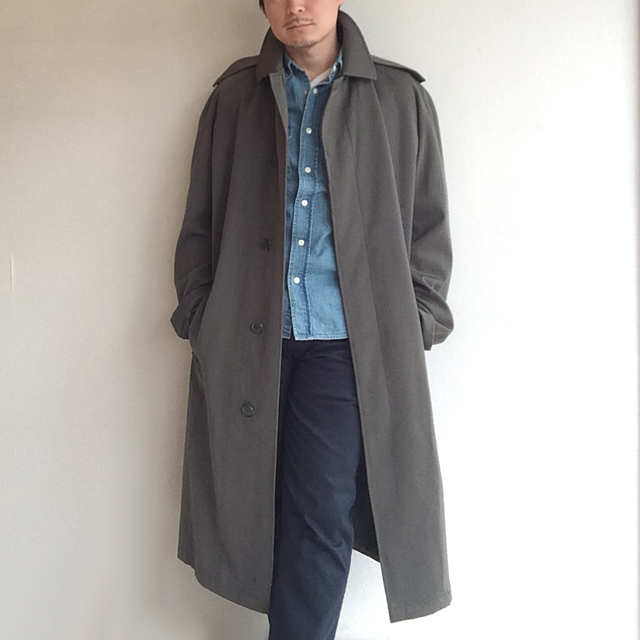 1970's British Royal Army Trench Coat Grey