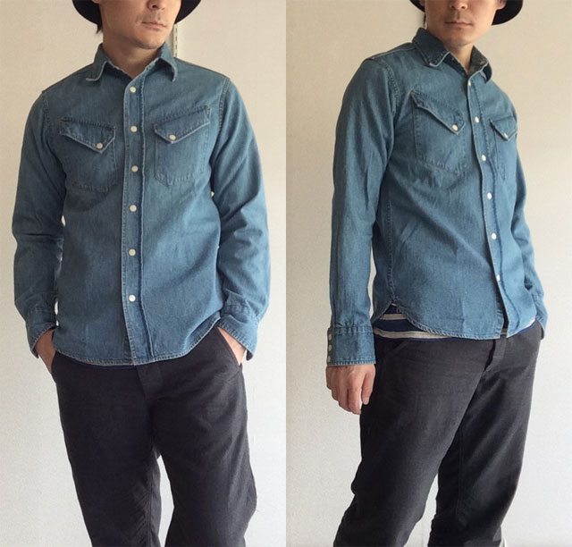 Western Shirt, Denim Washed Workers